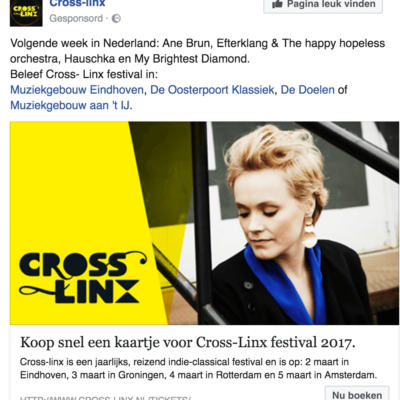 Cross-Linx Facebook Ad