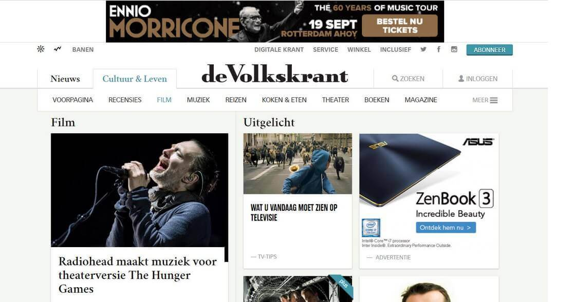 Voorbeeld display advertentie
