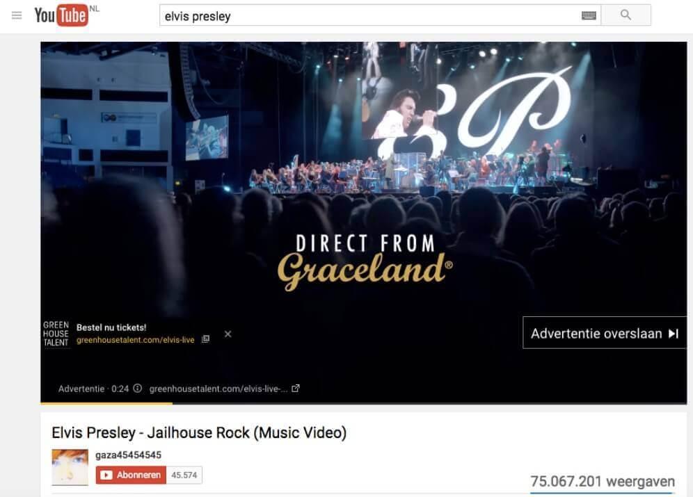 Elvis YouTube Ad
