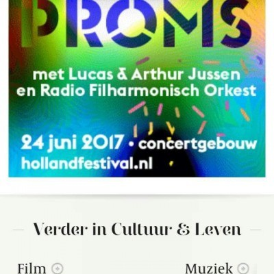 Mobiele advertentie Holland Festival